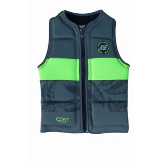 Jetpilot Prime Youth Neo Vest charcoal/yellow