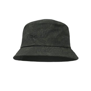 Buff Trek Bucket Hat heckboard moss green